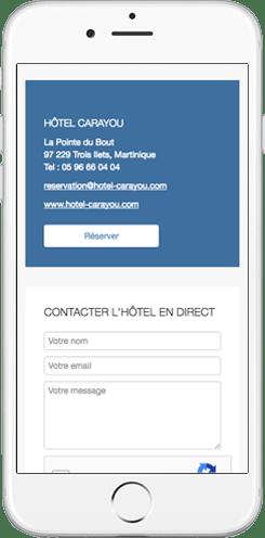 conception site web hotel
