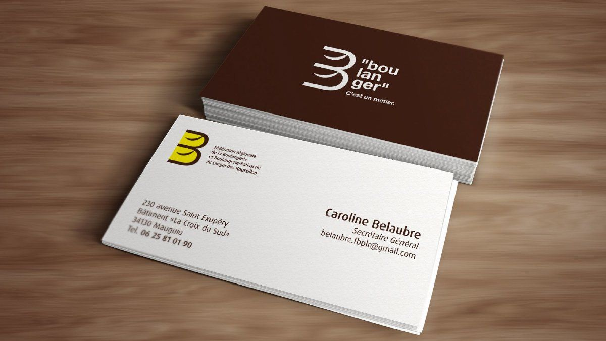 Creation Cartes De Visite Artisan Federation Boulangerie Patisserie