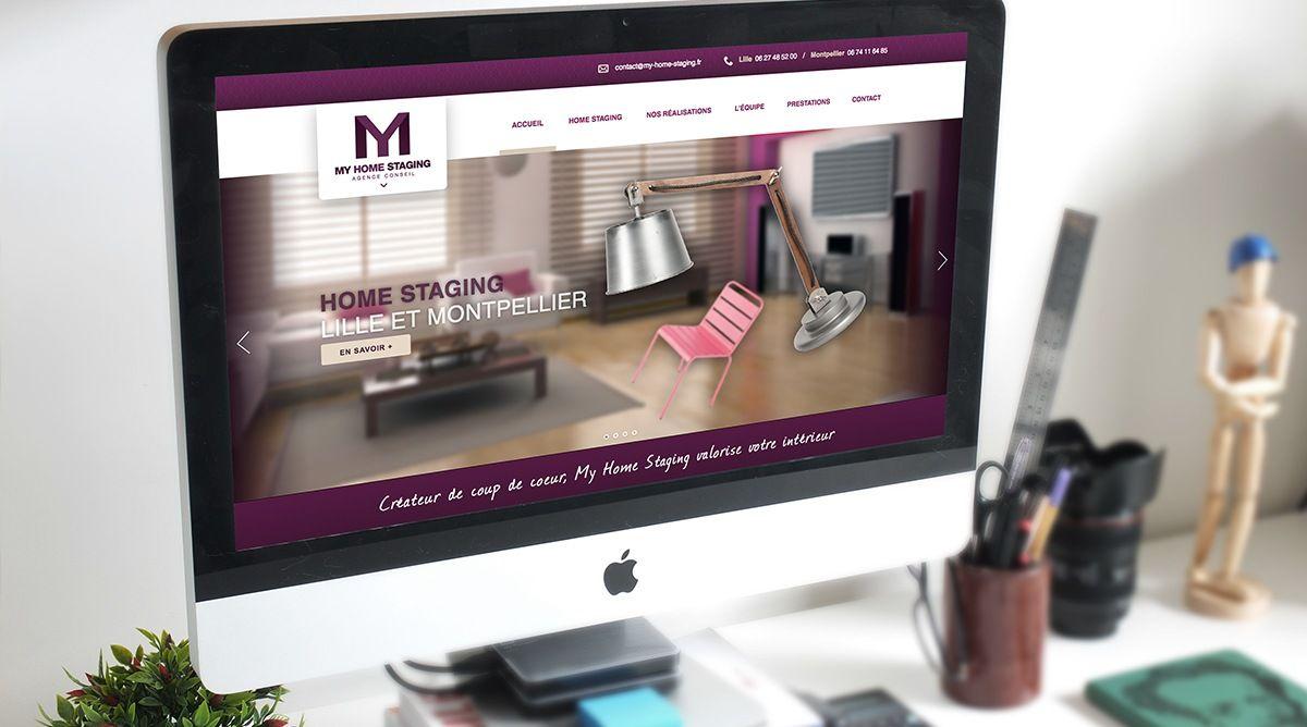 identit visuelle et site my home staging agence sweep. Black Bedroom Furniture Sets. Home Design Ideas
