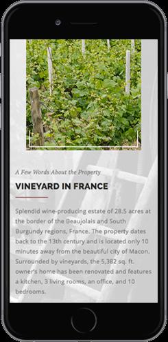 creation site mobile domaine viticole