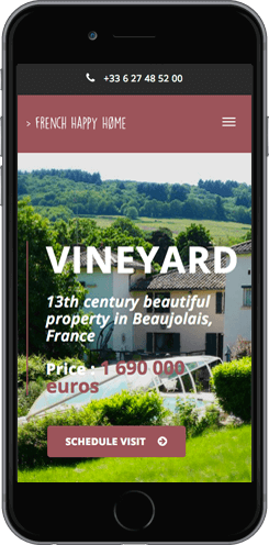 creation site mobile vignoble