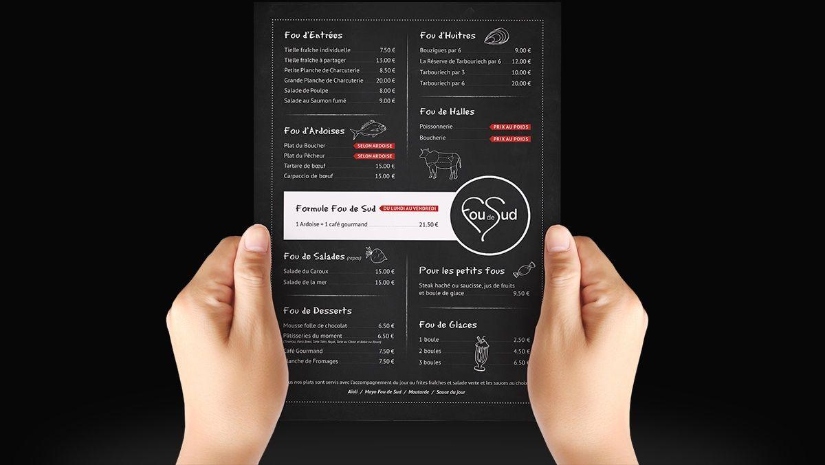 creation menu restaurant montpellier