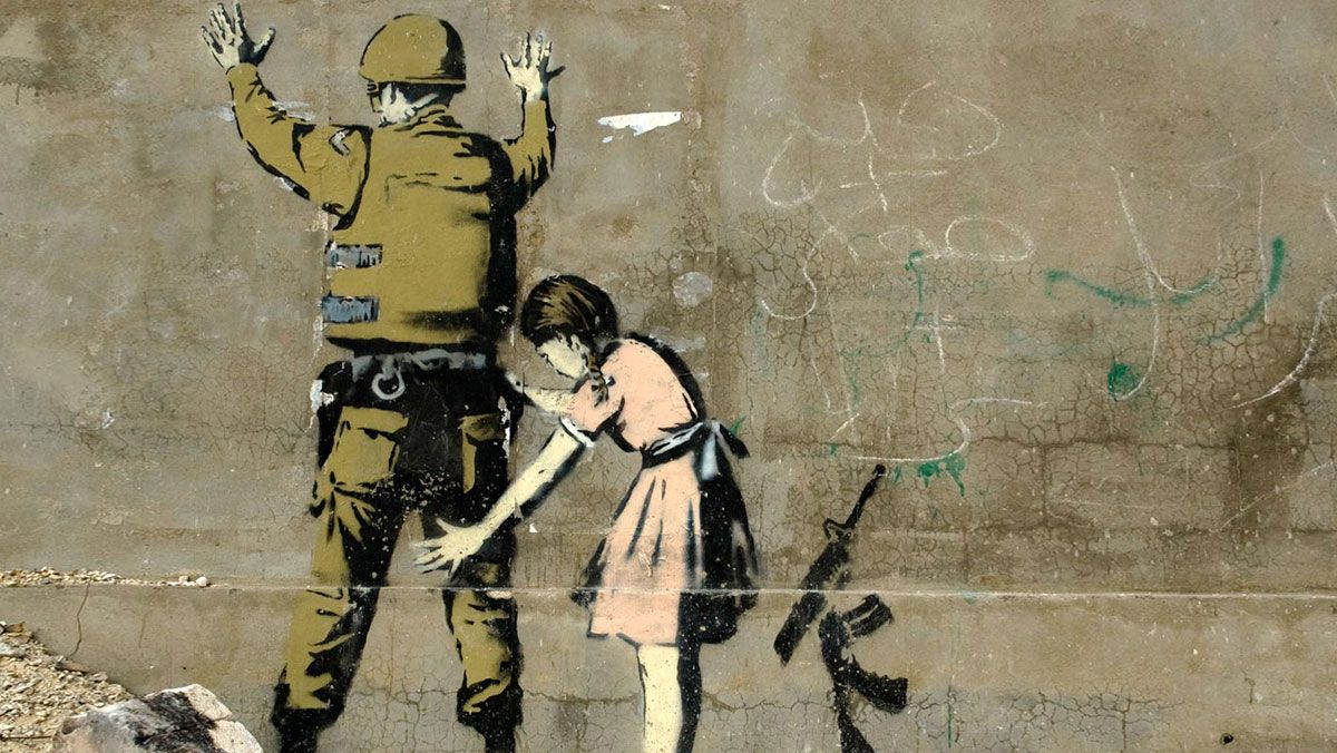 banksy-soldat-fillette