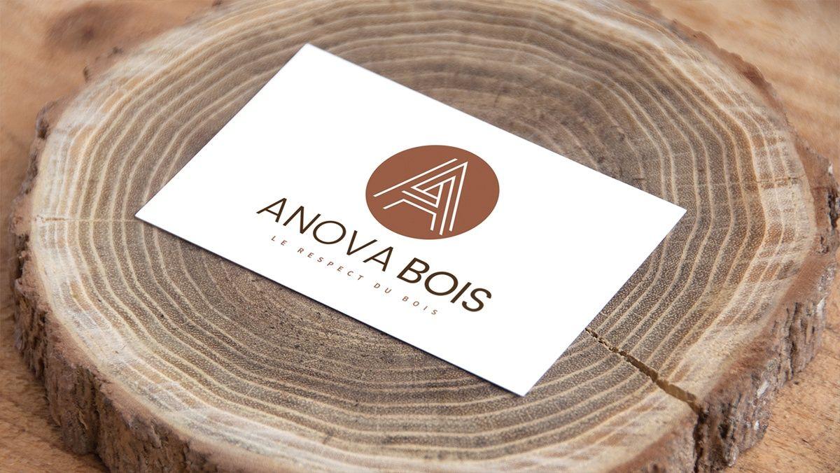 creation cartes de visite bois
