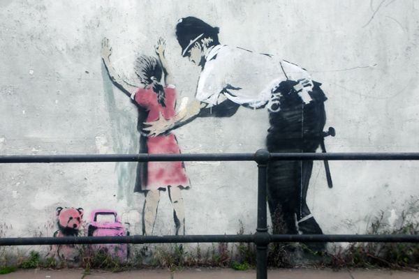 graffeur banksy fillette