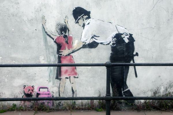graffeur banksy fillette