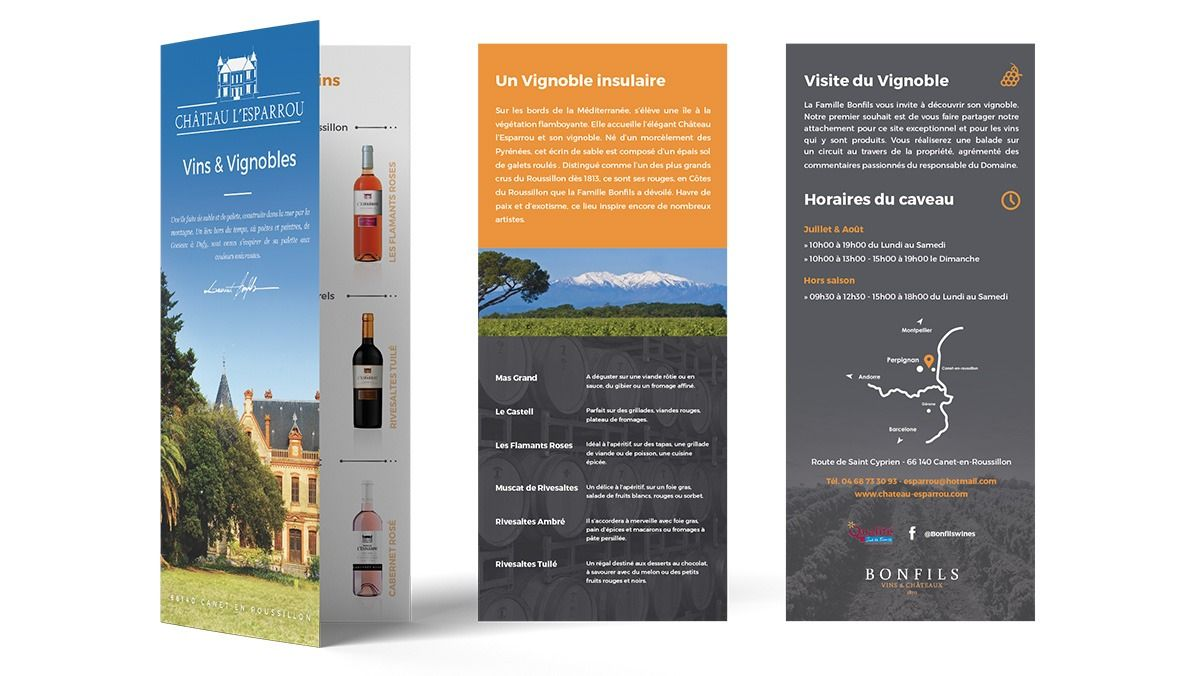 creation depliant domaine viticole