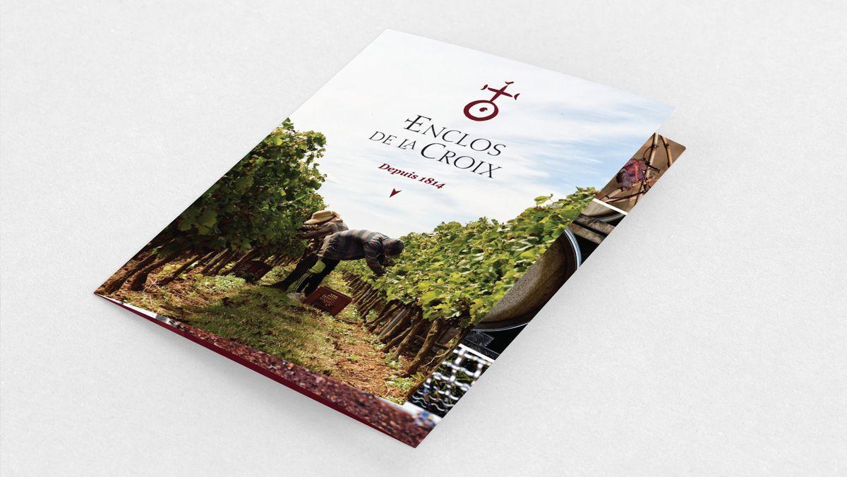 creation plaquette vin montpellier