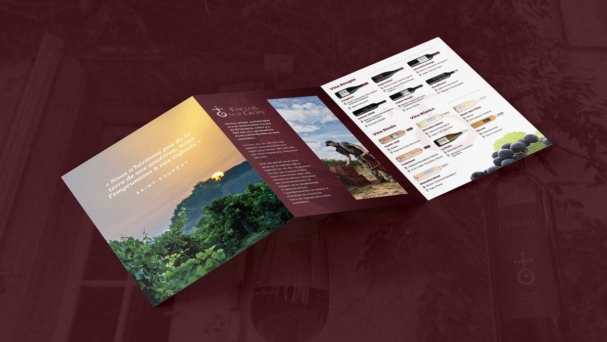 creation plaquette viticole montpellier