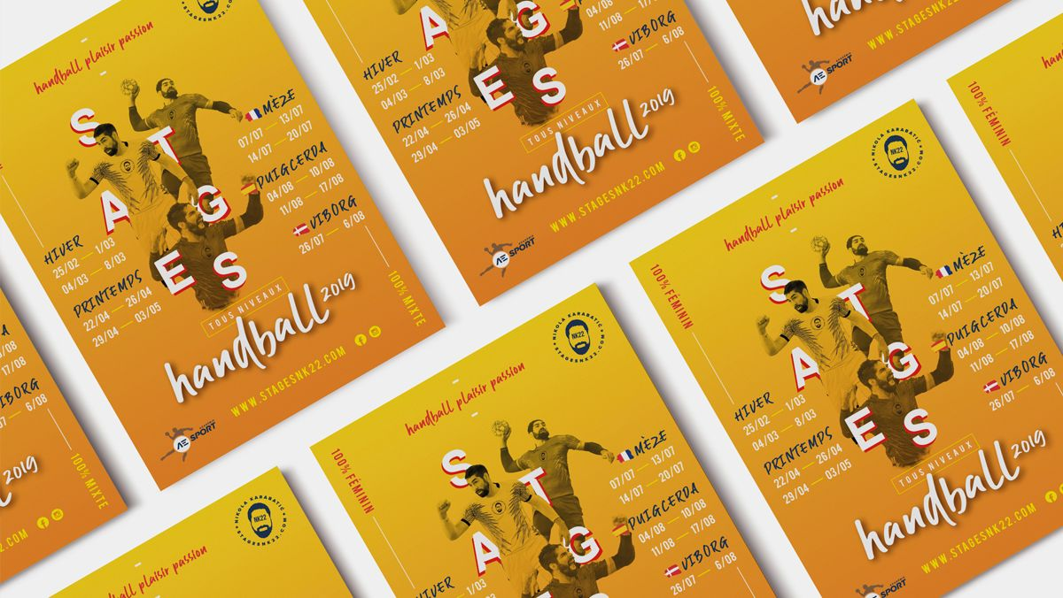 creation flyers sport handball