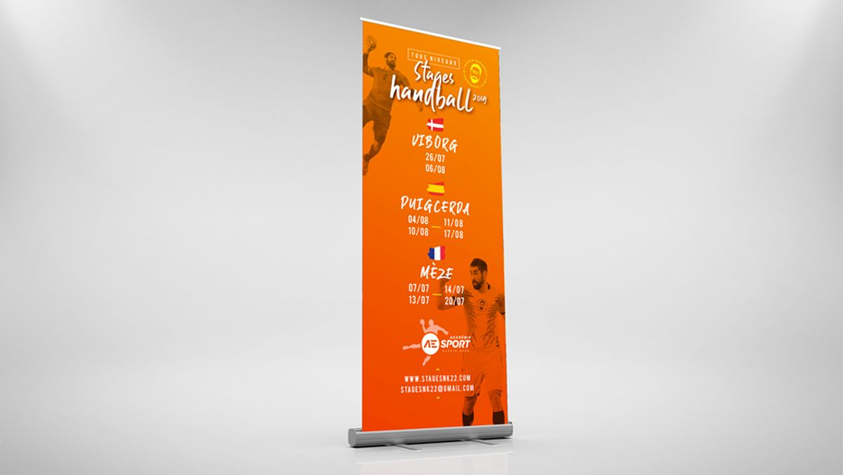 creation graphique rollup sport handball