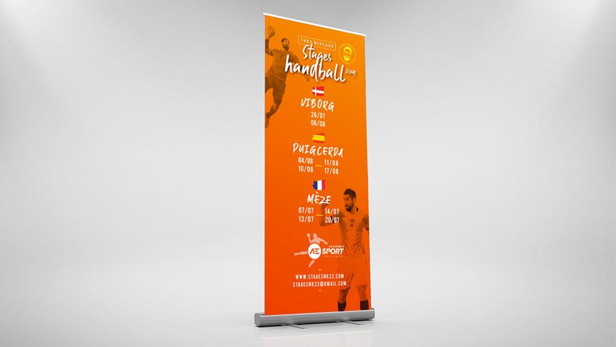 creation graphique rollup sport handball