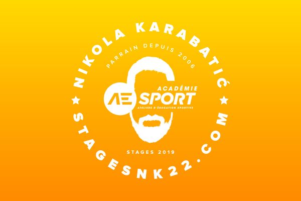 creation logo stages nikola karabatic