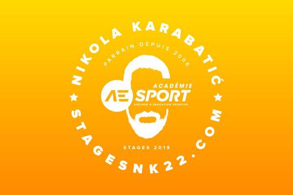 creation logo stages nikola karabatic