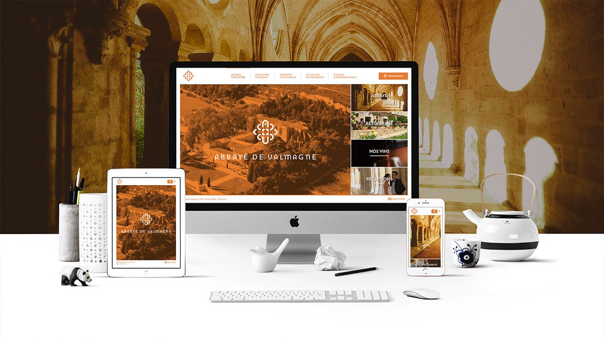 creation site abbaye de valmagne