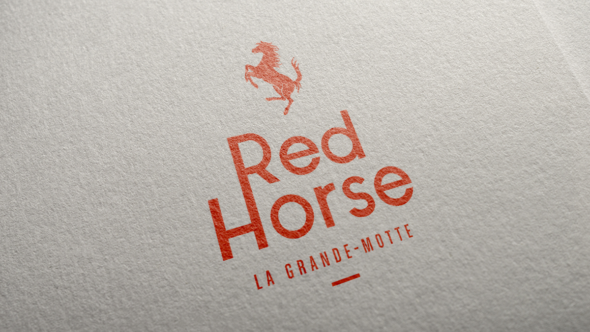 conception logo red horse ferrari