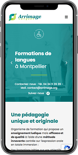 creation site mobile ecole langues montpellier