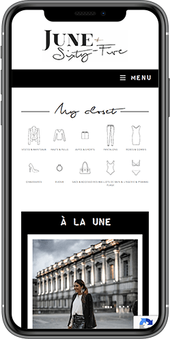refonte site mobile junesixtyfive