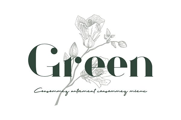 conception logo green montpellier