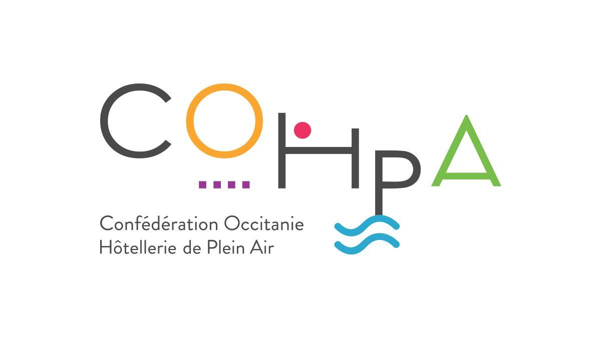 conception logo confederation occitanie hotellerie de plein air