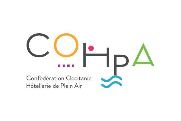 creation logo confederation occitanie hotellerie de plein air
