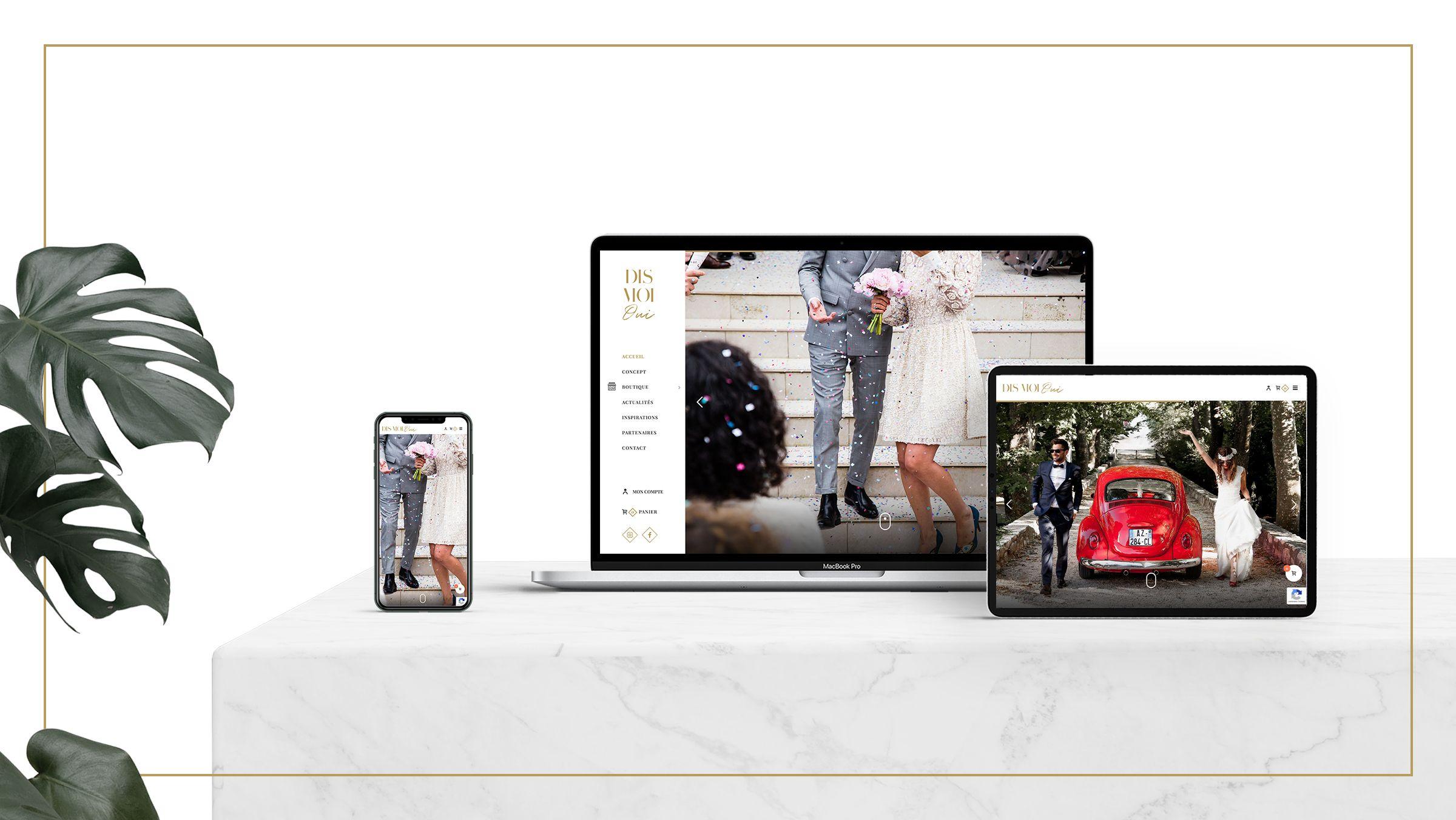 creation site boutique mariage montpellier