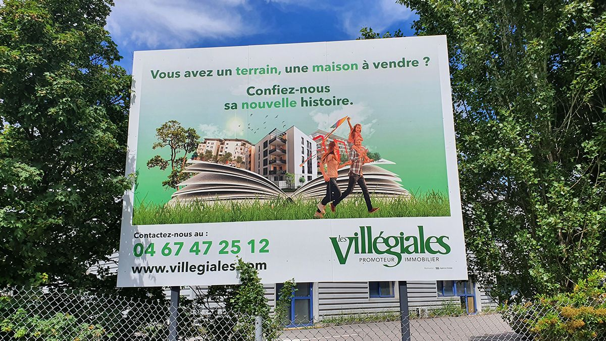 creation campagne affichage immobilier montpellier