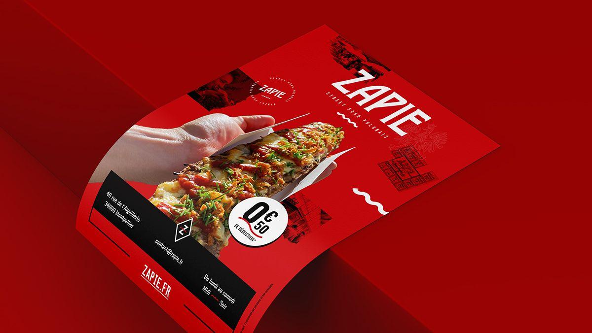 creation flyers street food polonais