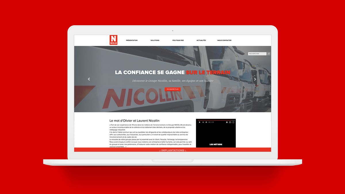 maintenance du site internet groupe nicollin