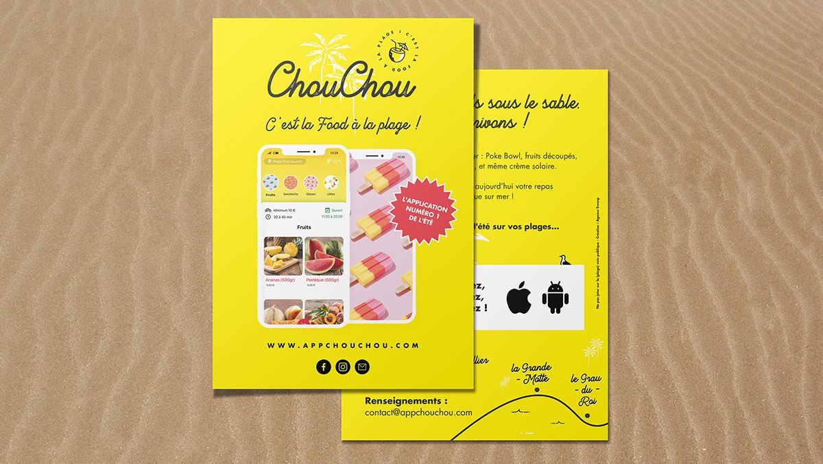 creation flyers application mobile montpellier