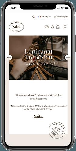 creation site responsive rondini saint tropez