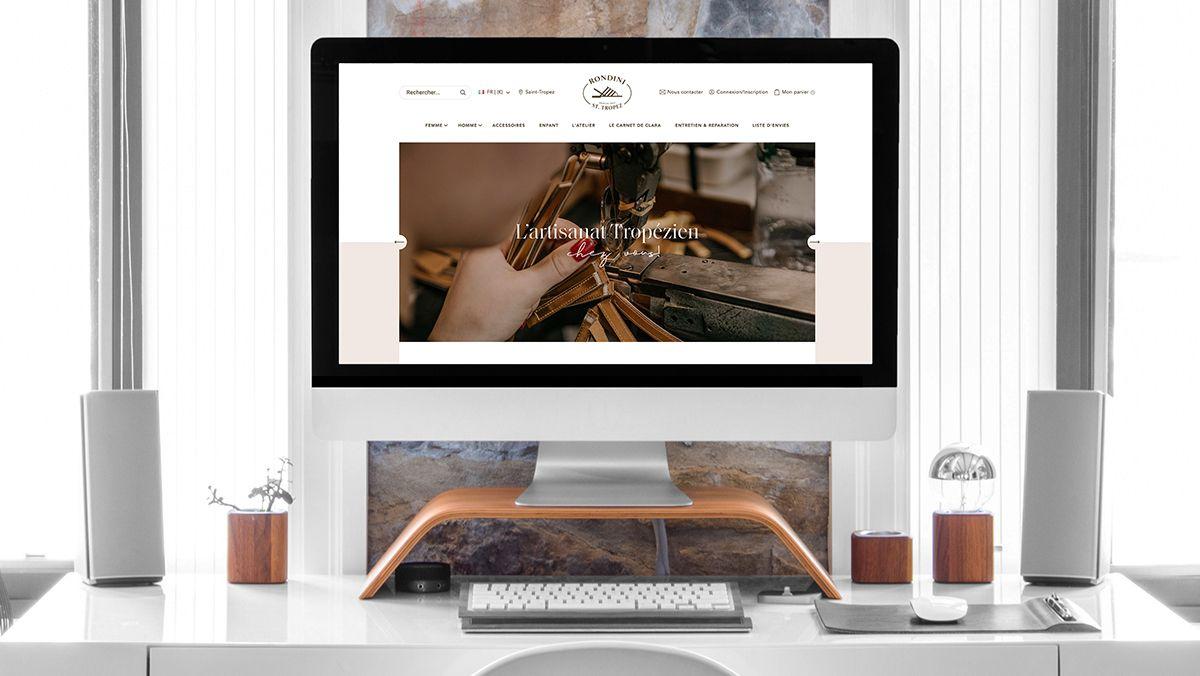 realisation site internet rondini saint tropez
