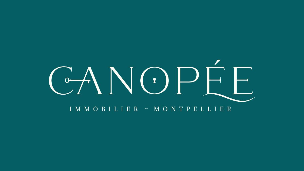 conception logo agence immobiliere beaux arts montpellier