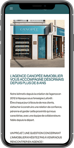 creation site mobile agence immo montpellier