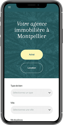 creation site mobile agence immobiliere montpellier