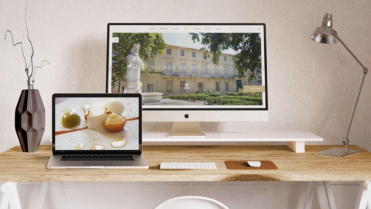 creation site internet hotel richer de belleval montpellier