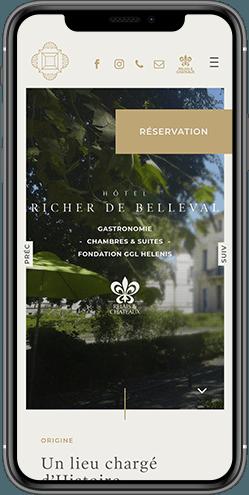 creation site mobile hotel richer de belleval montpellier