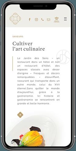 creation site web mobile hotel richer de belleval montpellier
